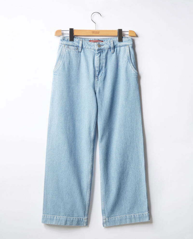 Jeans anchos cropped Light indigo Fropigo