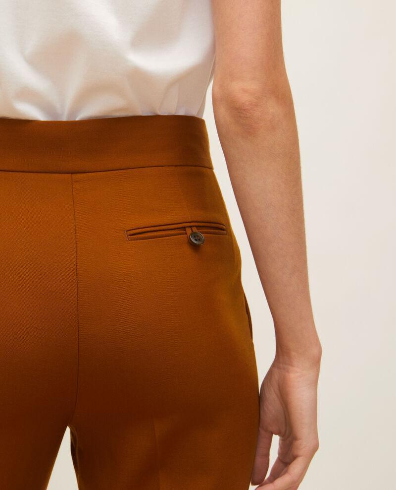 Pantalón recto de lana estilo masculino  Monks robe Lisabelle