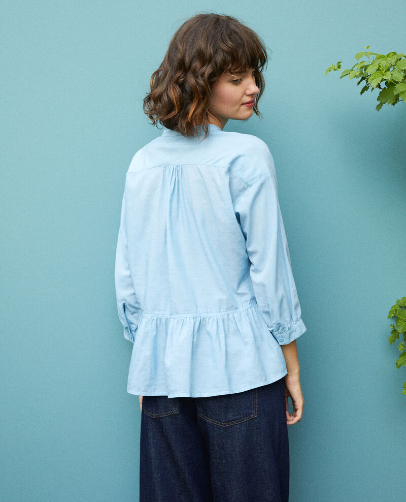 Blusa con faldón Adriatic blue Garniture