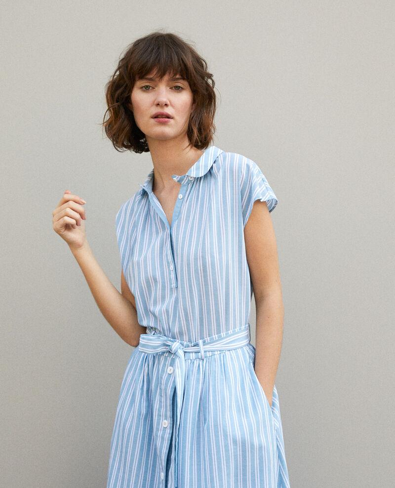 Camisa con cuello redondo Adriatic/off white stripes Garconne