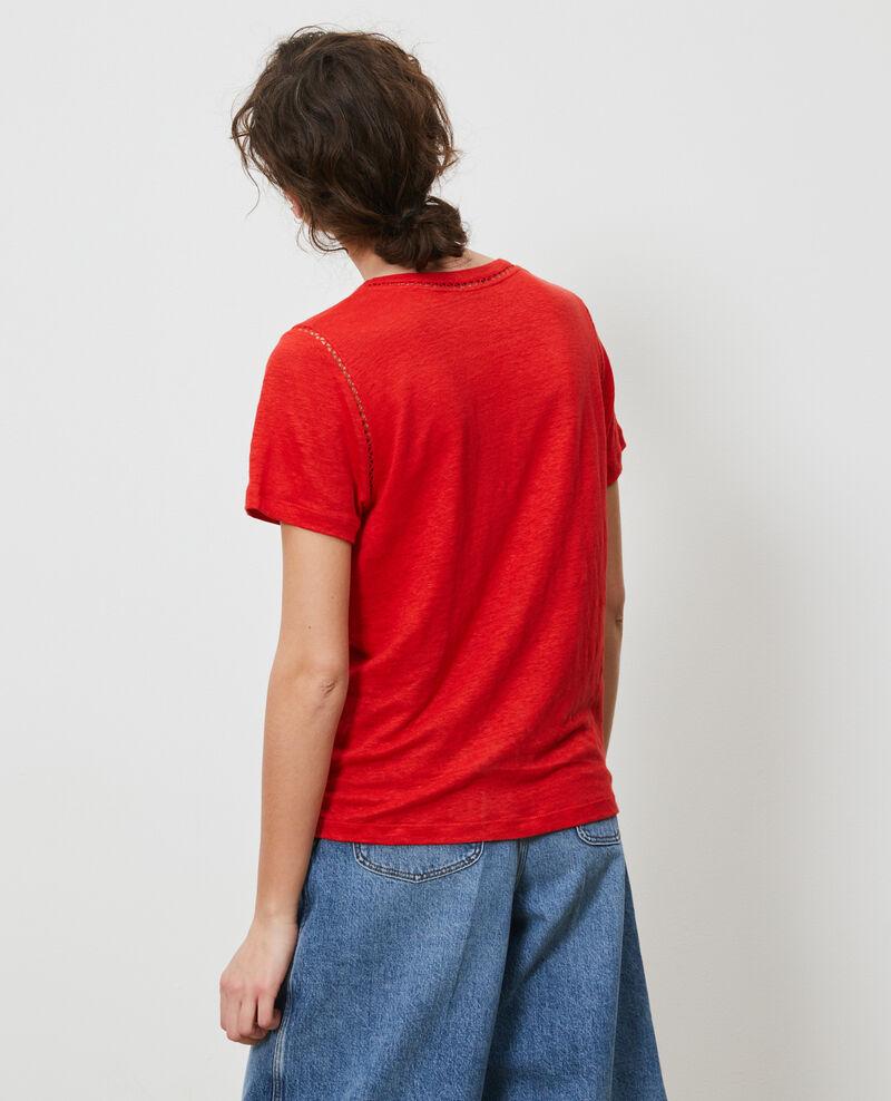 Camiseta de lino Fiery red Lye