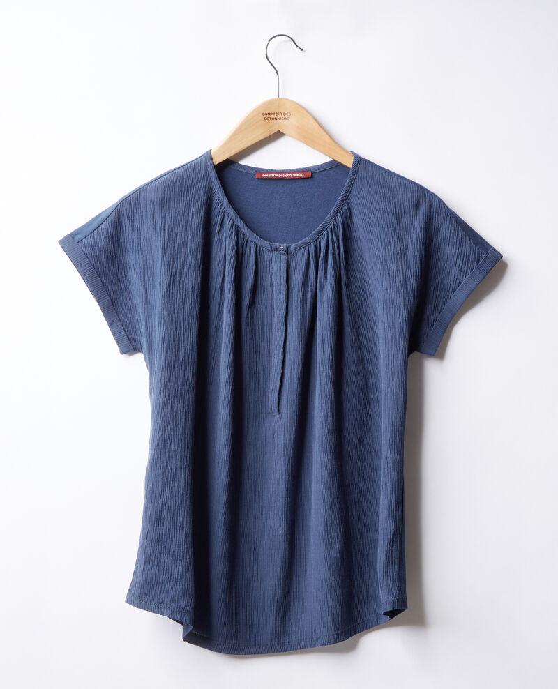 Camiseta de doble tejido Indigo Fara