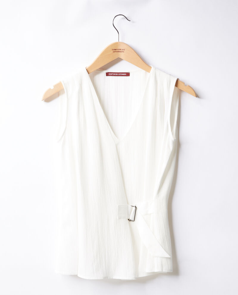 Blouse col V Off white 9fanelia
