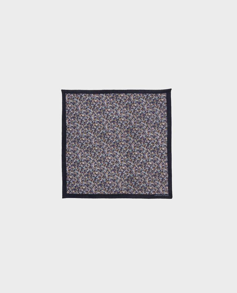 Pañuelo de lana estampado Stone blue Piberty