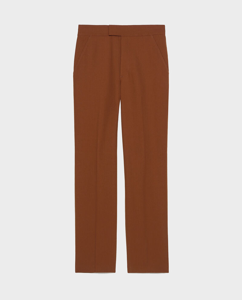 Pantalón MARCELLE, recto de lana estilo masculino Monks robe Lisabelle