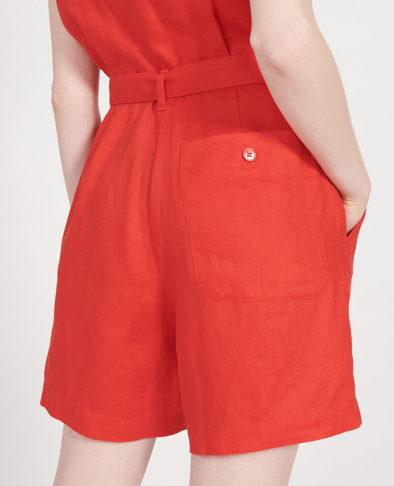 Mono short de lino Fiery red Lariona