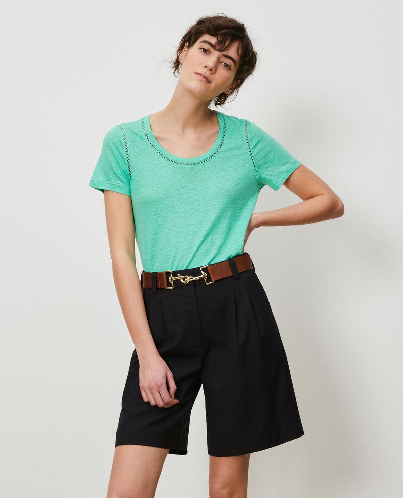Camiseta de lino Jade cream Lye