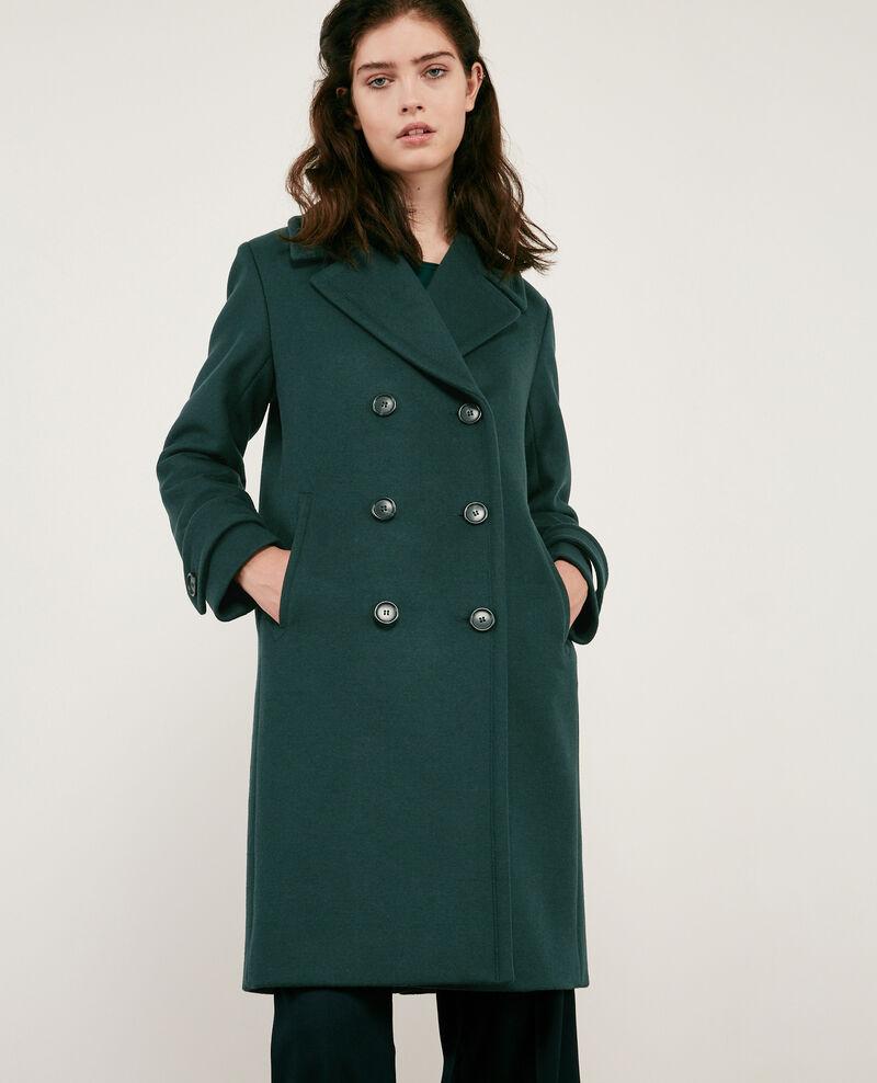 Abrigo chaquetón con lana Deep green Didanglas