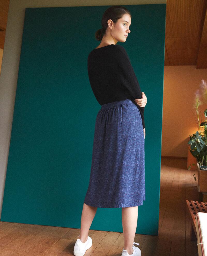 Falda estampada Azul Gidre