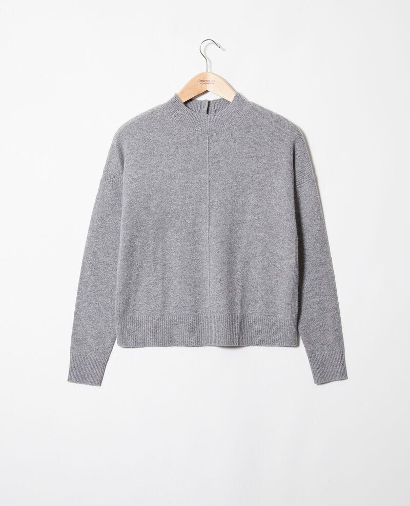 Jersey con botones en la espalda de 100% cachemir Light grey Jook