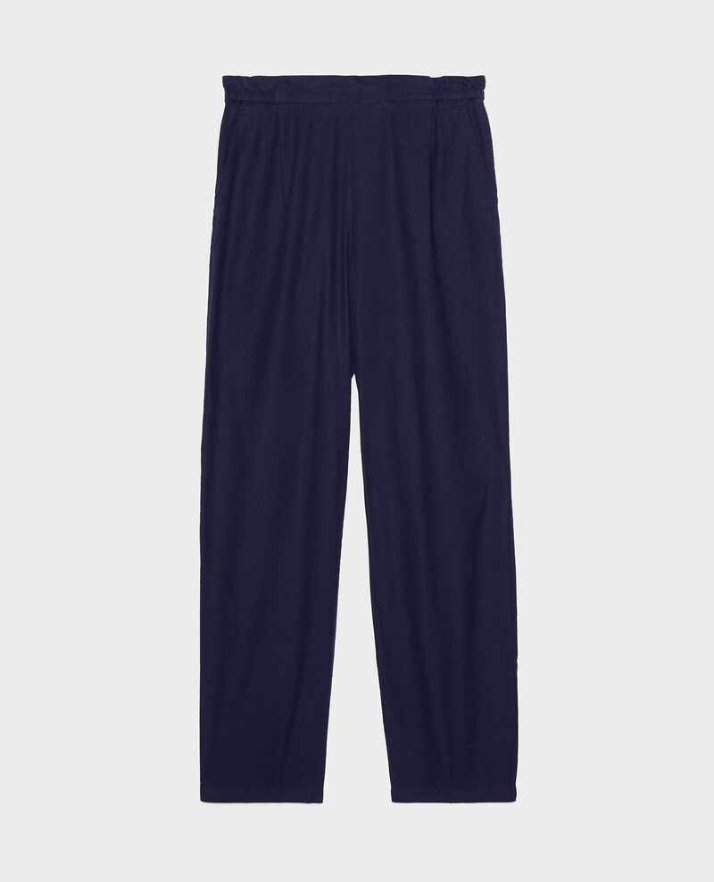 Pantalón con lino y algodón Maritime blue Loranki