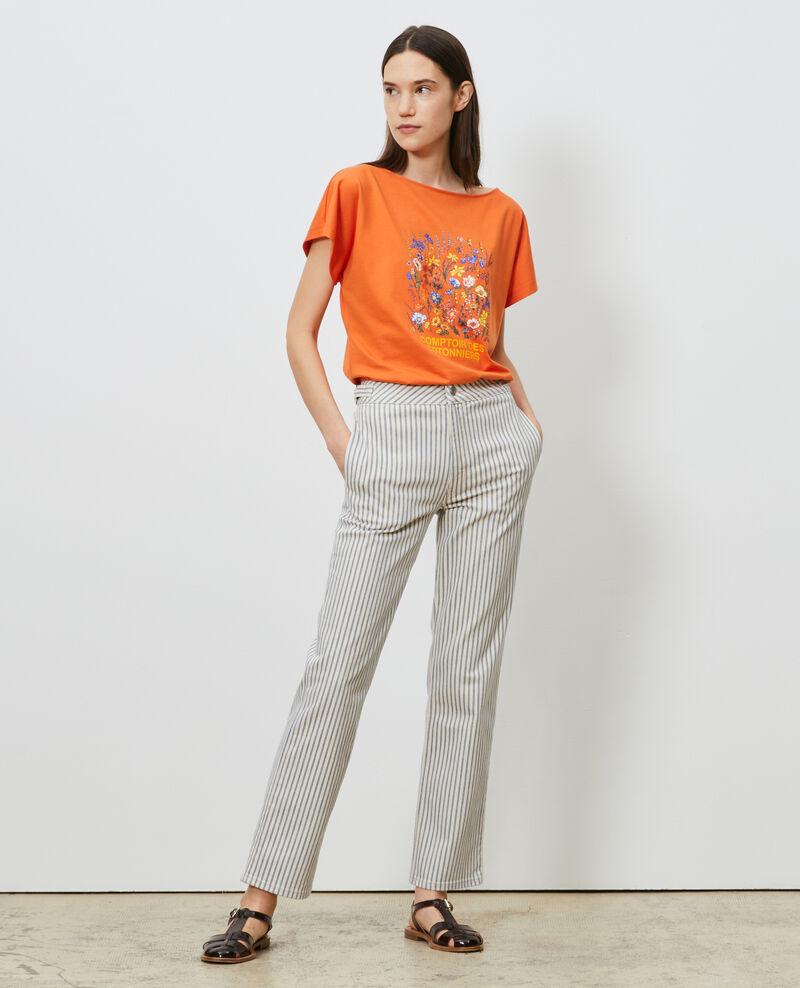 Camiseta de algodón manga corta Harvest pumpkin Marcelin