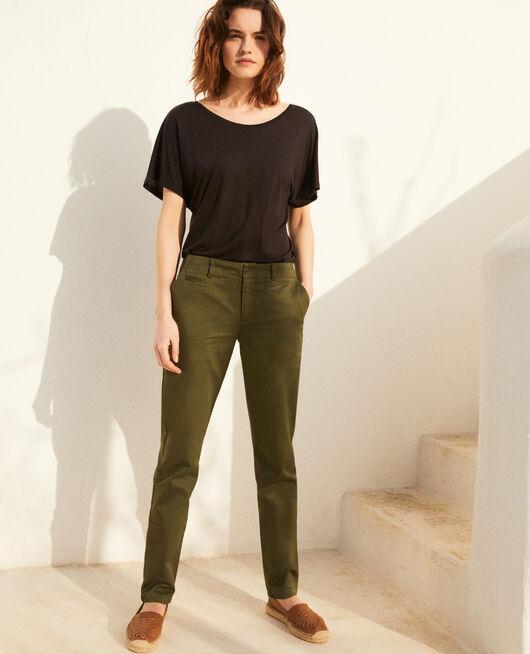 Pantalón de tela CHENG OLIVE