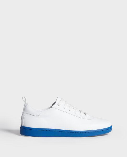 Sneakers de cuero con cordones WHITE PRINCESS BLUE