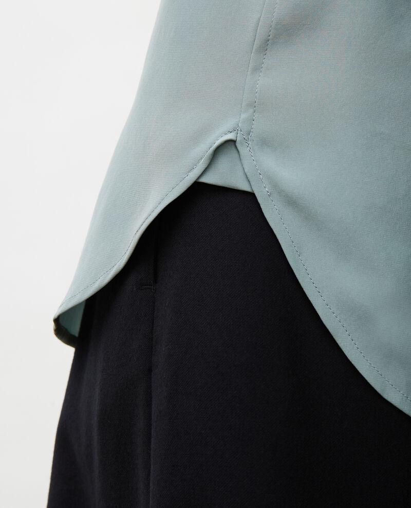Camisa masculina de seda con manga larga Chinois green Moriges