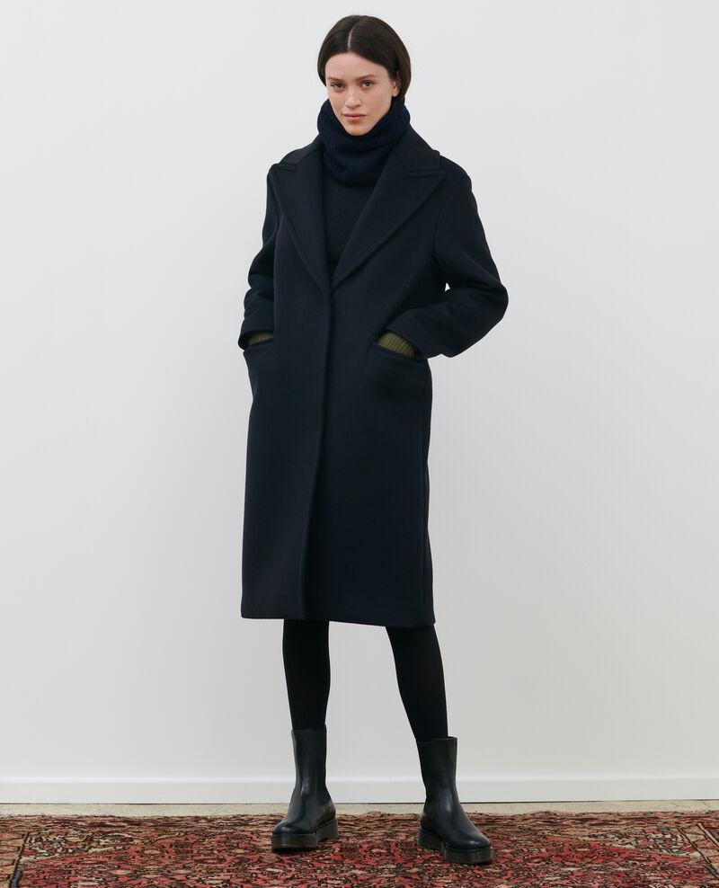 Abrigo masculino de lana y cachemir Black beauty Maule
