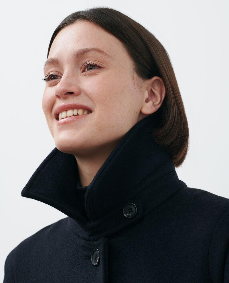 Abrigo evasé de lana y cachemir Black beauty Madriat