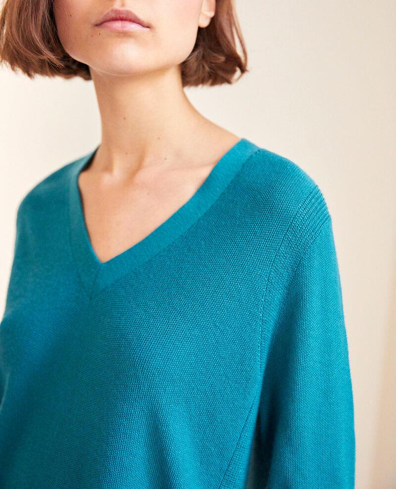 Pull en laine Turquoise Idile