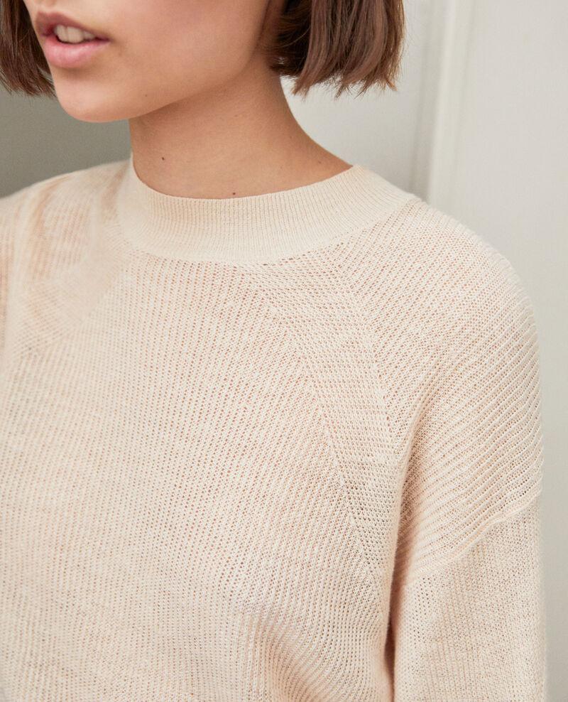 Jersey de cuello subido Natural beige Icote