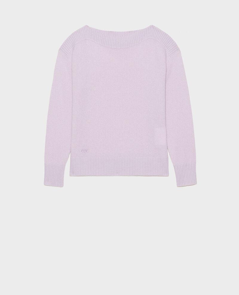 Jersey de cachemir con cuello de barco Pastel lilac Matelot