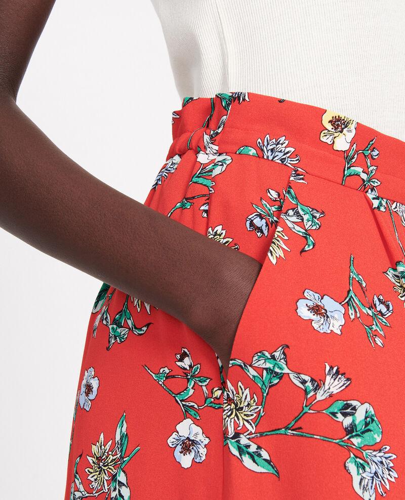 Falda de talle alto Herbier fiery red haze Lustar