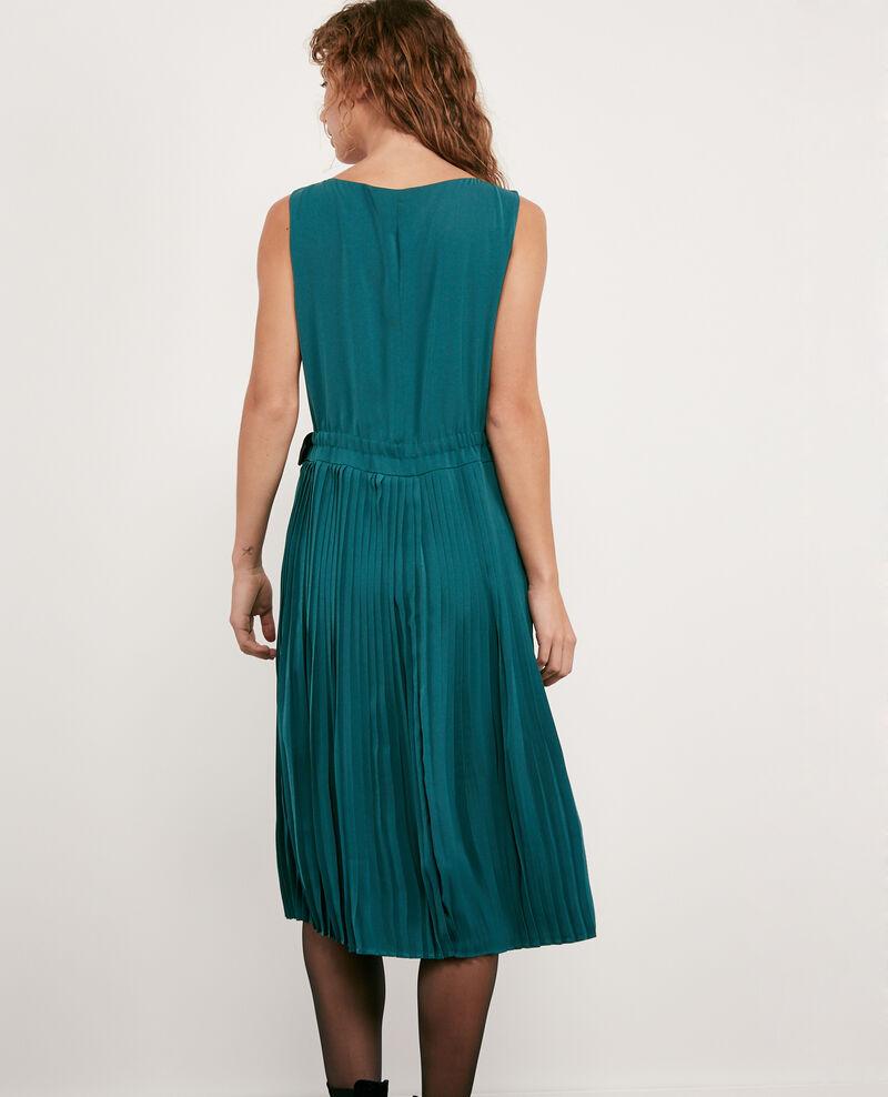 Vestido con parte plisada Light deep green Dosoleil