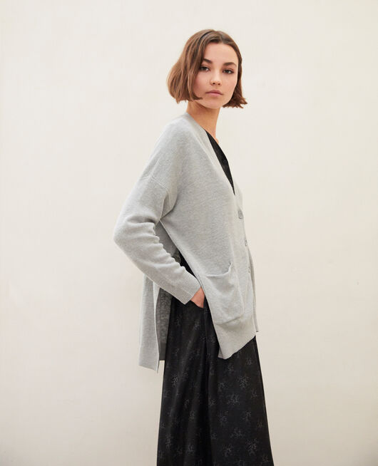 Cárdigan oversize LIGHT GREY