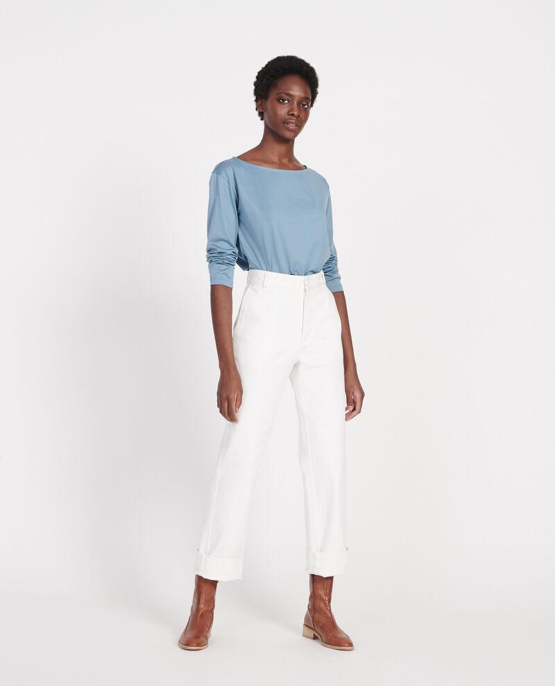 Camiseta de algodón con cuello barco y manga larga Bluestone Lotel