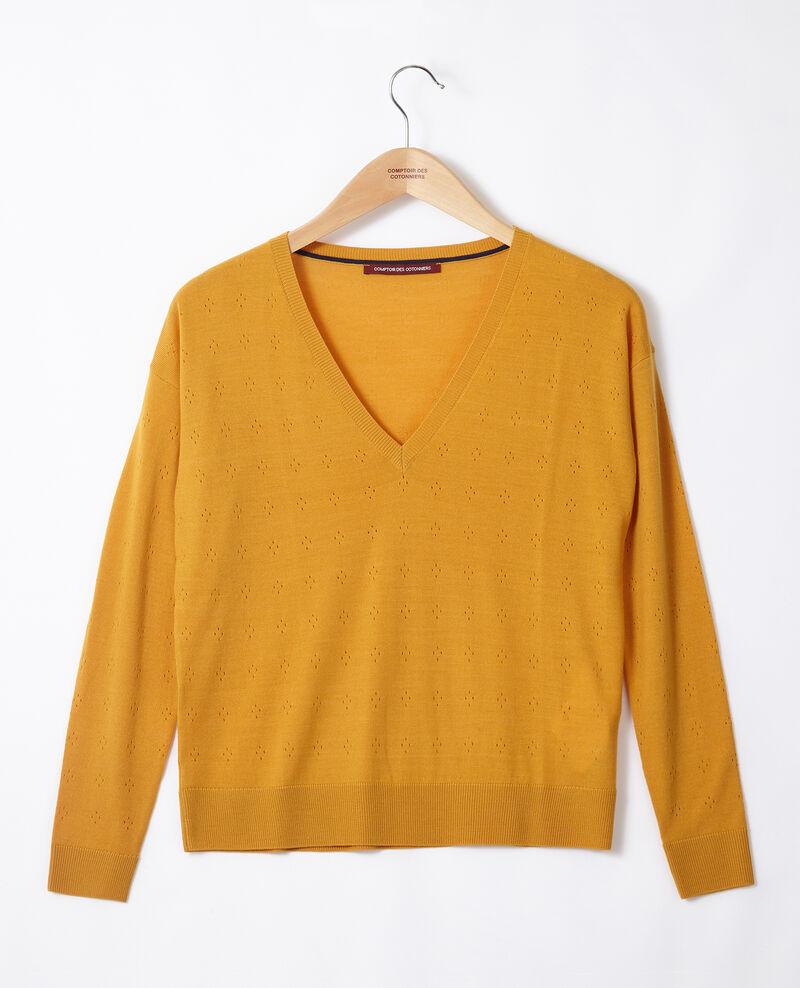 Jersey de lana merino Golden spice Garago