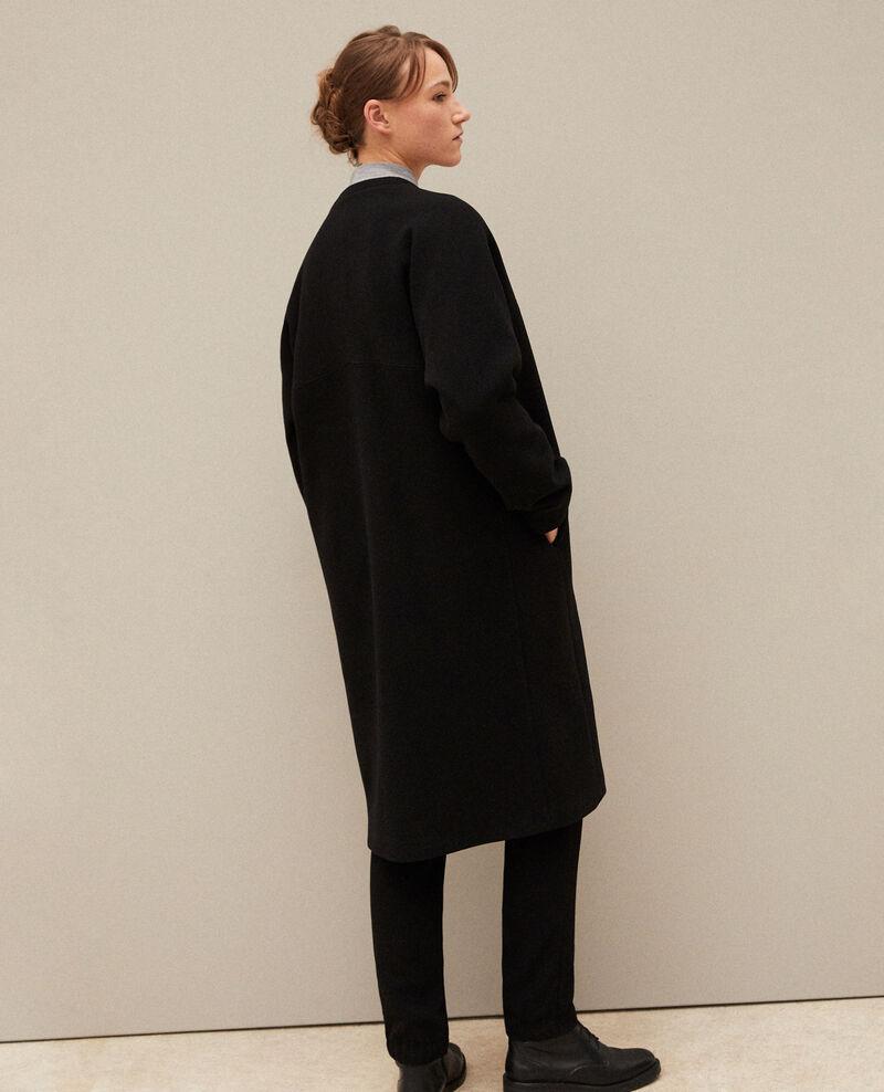 Abrigo sin cuello Noir Gilhard