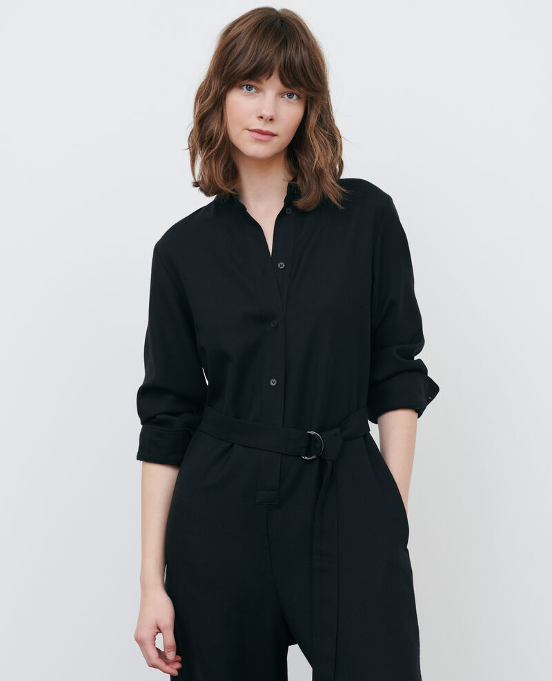 Mono pantalón de lana Black beauty Pampelune