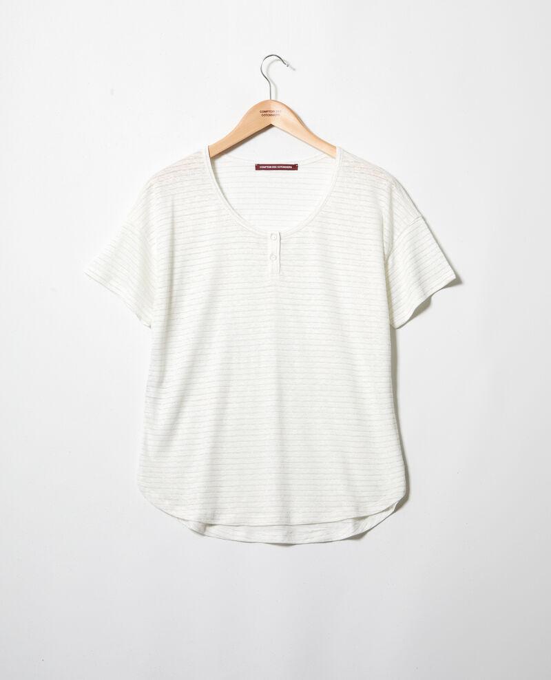 Camiseta brillante con lino Off white Imape