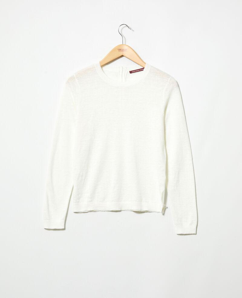 Jersey de lino 3D Off white Isisa