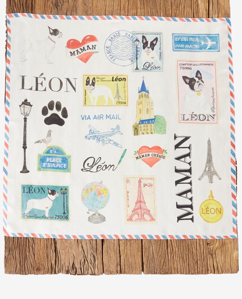 Pañuelo de seda Léon Off white Fantasque