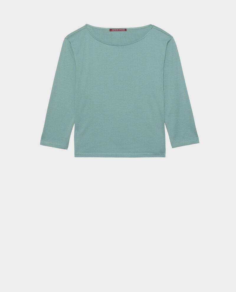 Camiseta de algodón con cuello barco y manga larga Treillis Lotel