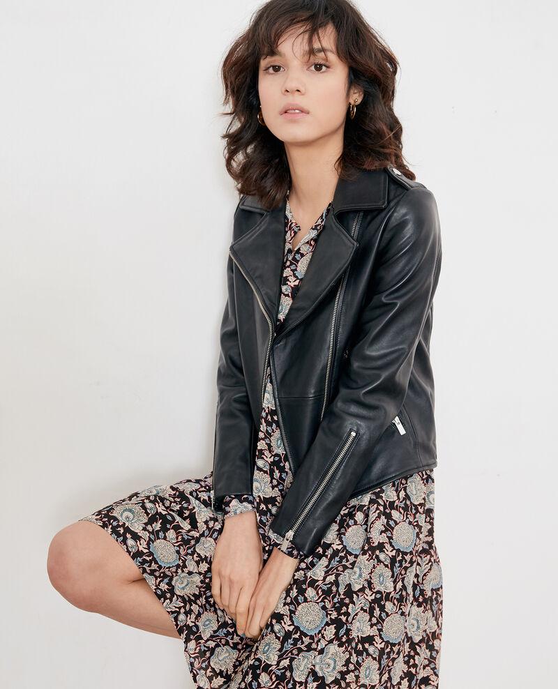 Vestido de seda estampada Darjeeling black Fedora