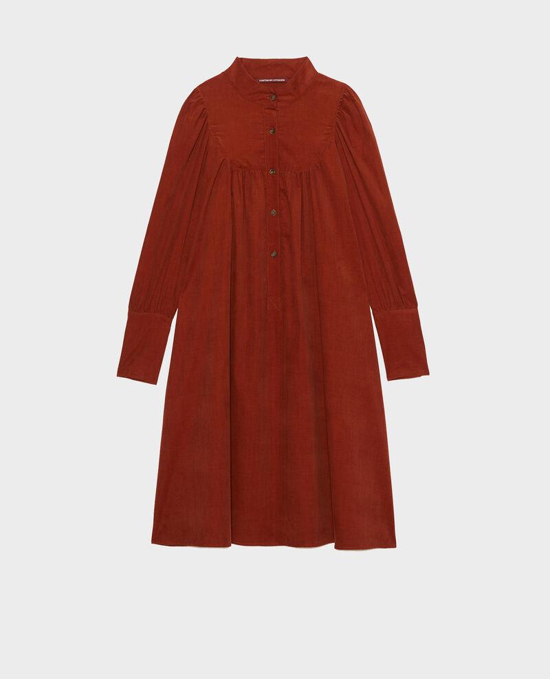 Vestido amplio de terciopelo con pechera  Brandy brown Marcheville