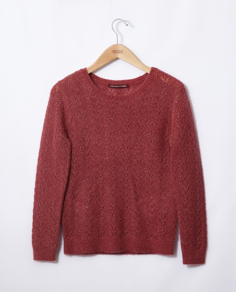 Jersey con mohair y lúrex Earth red Gigogne