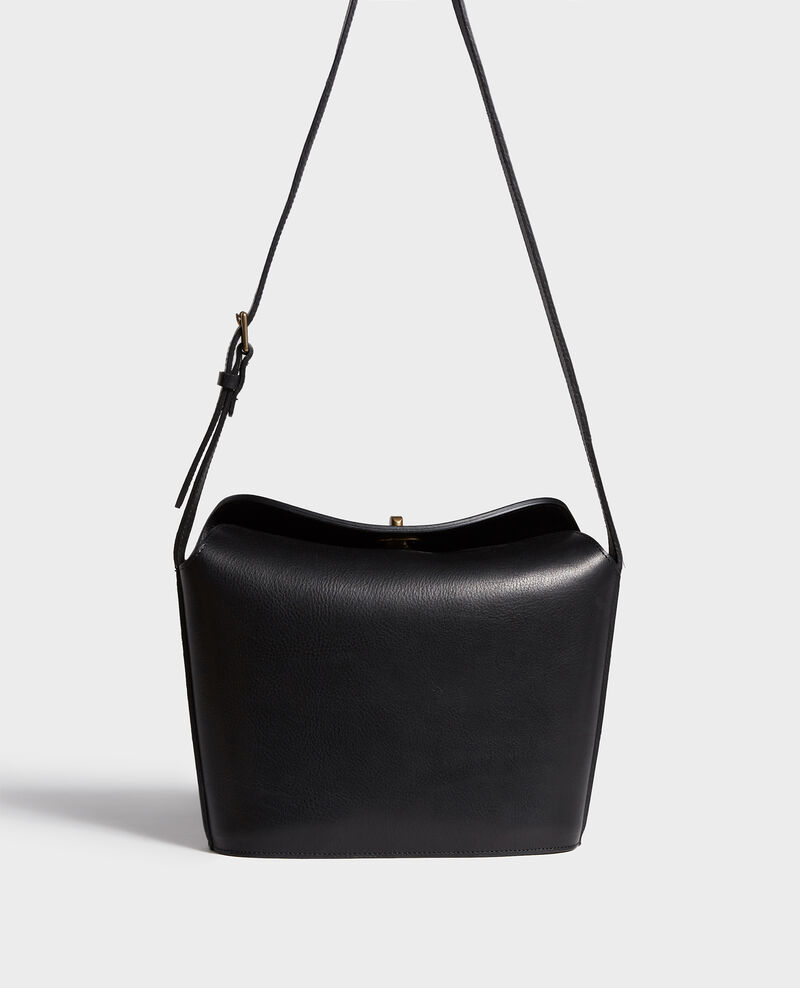 Bolso de cuero granulado Black beauty Lidylle