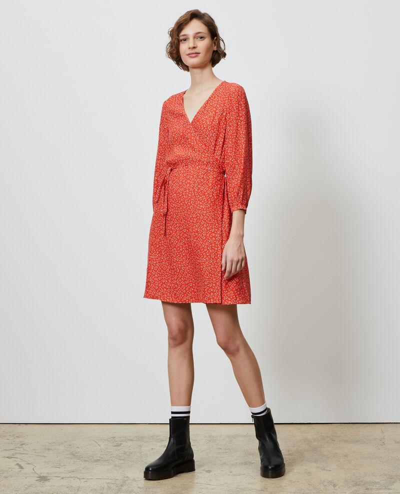 Vestido cruzado de seda Clochette spicy Nireclos