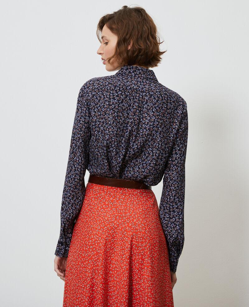 Camisa de seda con estampado Clochette navy Nabilo