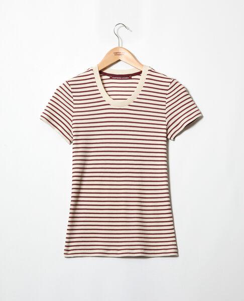 Comptoir des Cotonniers - Camiseta de rayas Beige/red - 2