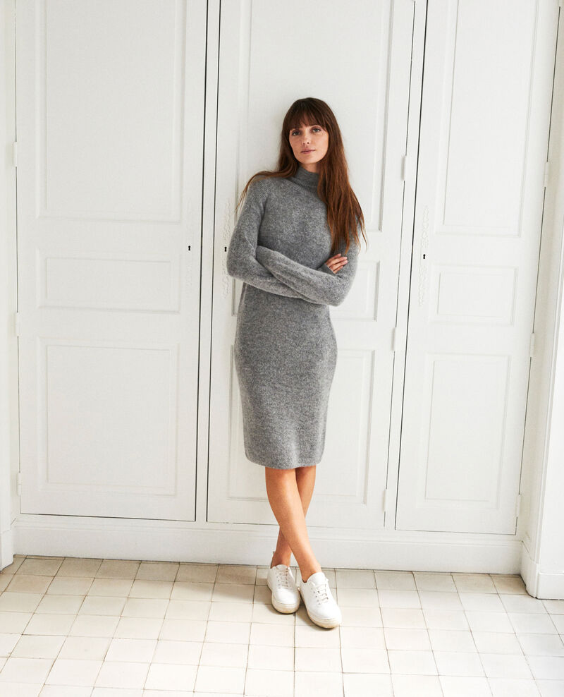 Vestido largo de punto Middle grey Joupalou