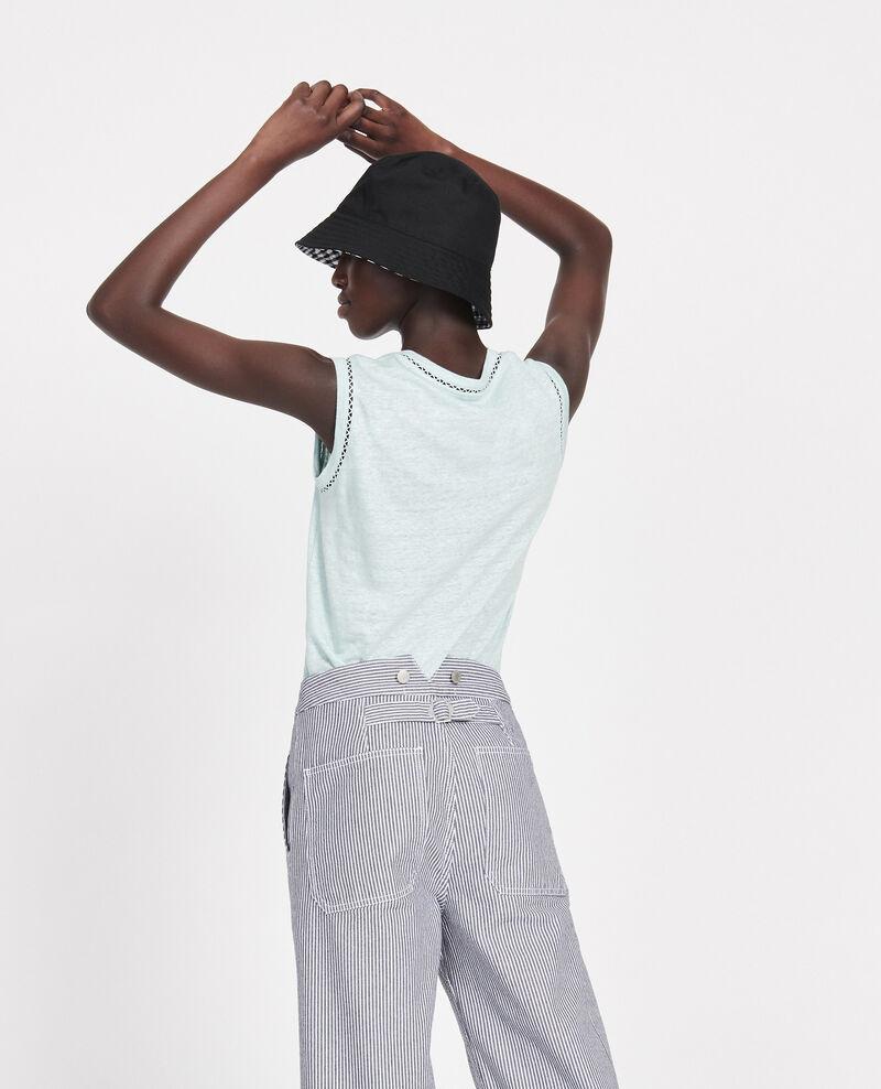 Camiseta de lino con tirantes Blue haze Lespa