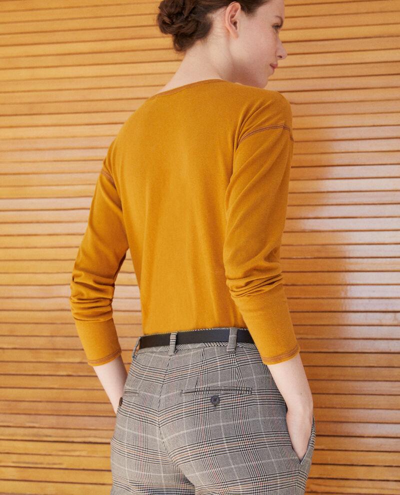 Camiseta de algodón Amarillo Gonia