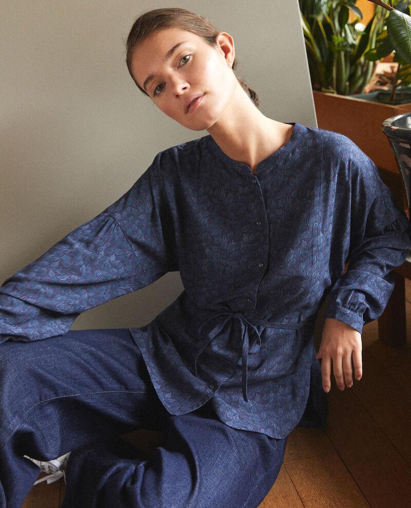 Blusa de corte amplio Azul Garuya