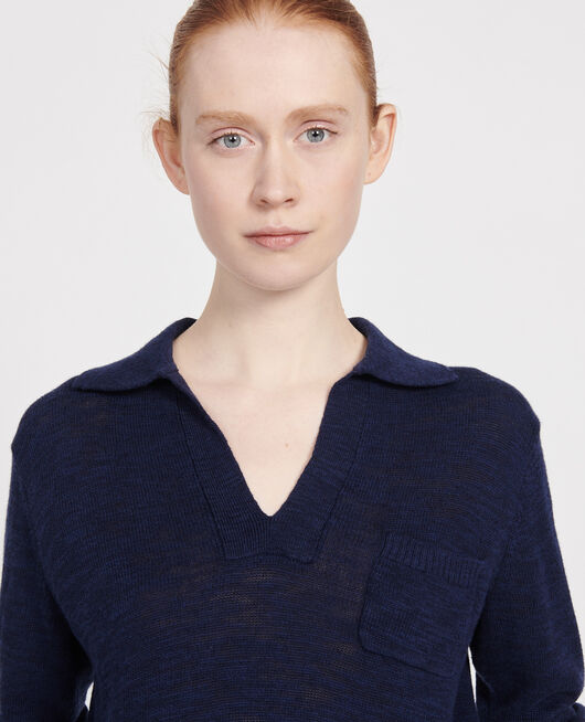 Jersey con lino MARITIME BLUE