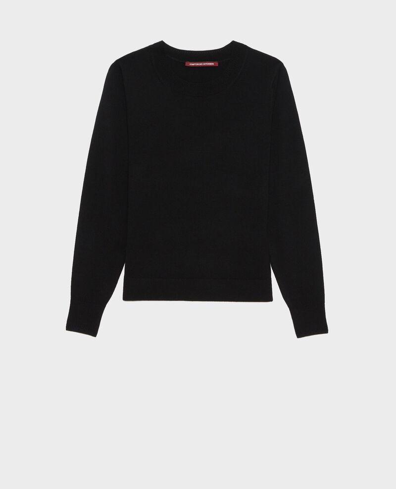 Jersey cuello redondo de lana merino Black beauty Passy