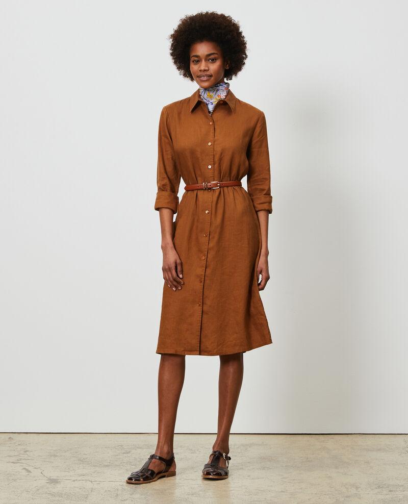 Vestido camisero de lino Monks robe Lesprit