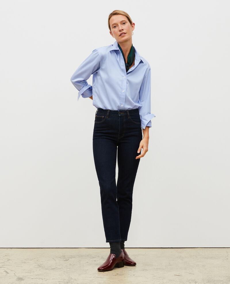 SLIM HIGH RISE - Jeans cropped 5 bolsillos Denim rinse Mervilla